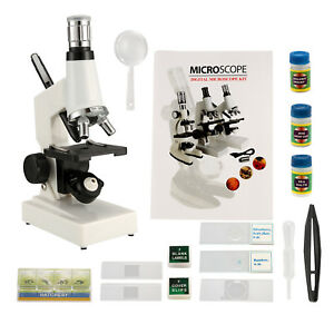 1200x Biological School Educational Microscope Led Light 10 20x Zoom Eyepiece