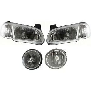 Headlight Kit For 2000 2001 Nissan Maxima Left And Right 4pc