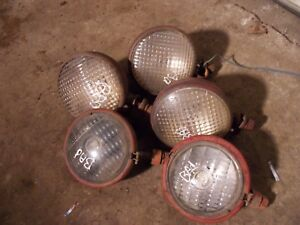 4 Farmall H M 300 350 400 450 Tractor Orignal Nonwork Front Head Lights 1 Rear