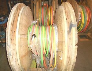 Lot Of 3 Rolls 600 Mcm Electrical Wire On Easy Off Reels