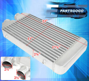 24 5 X 11 X 2 5 Aluminum Front Mount Intercooler System Tube And Fin Upgrade