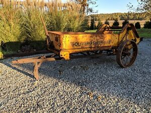 Oliver Model 11 Tractor Manure Spreader Ground Driven Springfield Oh Steel Wheel