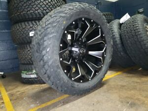 22x10 Fuel D546 Assault 33 Mt Wheel And Tire Package 6x5 5 Chevy Silverado