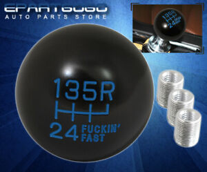 For Mazda Jdm 6 Speed F Ing Fast Pattern Round Ball Type Shift Knob Lever Blue