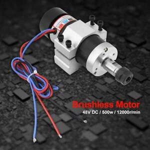 Er16 500w Dc48v High Speed Air Cooling Brushless Spindle Motor Driver Clamp Us
