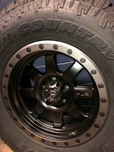 5 17 Fuel Trophy D551 Toyo At 33 Wheel And Tire Package Jeep Wrangler Jk Jl