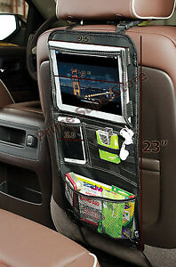 Back Seat Ipad Dvd Tablet Multi Pocket Compartment Storage Organizer Car Truck