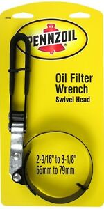 Pennzoil Oil Filter Wrench Remover Tool Adjustable Swivel Head Change Car Truck