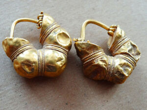 Ancient Gold Earrings Provenance Christie S Greek 6th 5th Century Bc