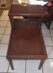 Mahogany Mid Century Step End Table Side Table T758