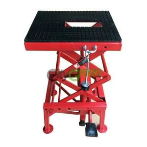 Motorcycle Hydraulic Scissor Floor Jack Lift Stand Hoist Center Stand Lift
