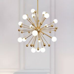 Gold Sputnik Chandelier 11 12 18 Arms Modern Pendant Lamp Ceiling Light