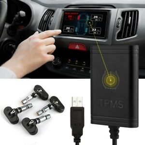 Ancel Tpms Android Dvd Car Tire Pressure Monitoring System 4 External Sensors Us
