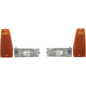 Turn Signal Light Kit For 1984 96 Jeep Cherokee Front Left And Right 4pc