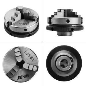 1pc Mini 3 Jaw K01 63 2 5 63mm M14 Reversable Self centering Jaws Lathe Chuck