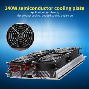 240w Semiconductor Refrigeration Thermoelectric Peltier Cold Plate Cooler Fan Ub