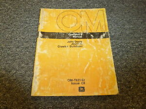 John Deere 450c Crawler Bulldozer Owner Operator Manual Omt62742