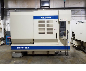 Used Okuma Mc v4020 Cnc Mill W Osp u10m Control 40 20 Tools 8000 Rpm