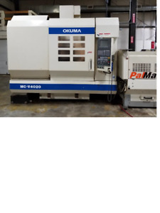 Used Okuma Mc v4020 Cnc Mill W Pallet Changer Osp u10m Control 40 30 Tools