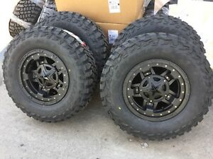 17x9 Xd827 Rockstar 3 33 Mxt Mt Wheel And Tire Package 5x4 5 Jeep Wrangler Tj