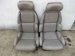 93 Corvette Light Tan Standard Seats Frames And Cushions C4 Fit 84 93