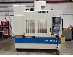 Used Okuma Mx 45vae Cnc Vertical Mill 1998 Osp 700m 3 18 18 7000 Rpm 20 Tools