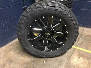 20x10 19 Ion 141 Gloss Black Wheels 33 Mt Tires Package 6x135 Ford F150 6 Lug