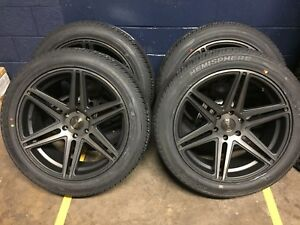 22 Dub Skillz Black Ddt Wheels Rims Tires Package 6x5 5 Chevy Tahoe Suburban