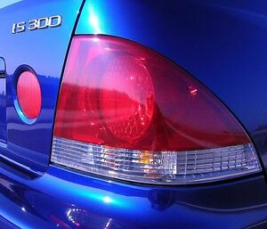 Precut Vinyl Tint Red Overlays For 01 05 Is 300 Tail Light