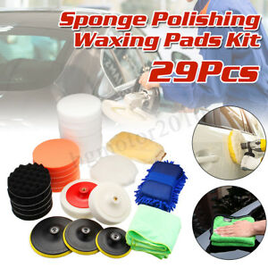 29 Pcs Polish Sponge Kit For Car Polisher Sander Polishing Machine Buffing Pads
