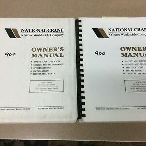 National 900 Series Truck Crane Owners Manual Book Parts Operation Maintenance