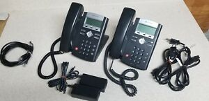 Polycom Soundpoint Ip 331 Voip Business Phone W Base Power Supply lot Of 2