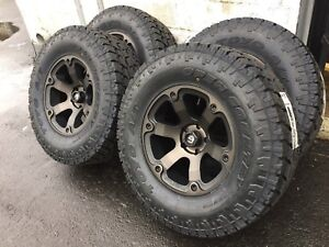 18x9 Fuel Beast D564 Wheels 35 Toyo At Atii Tires Package Jeep Wrangler Jk Jl