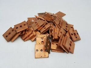 72pc 1 1 2 Copper Square Bar Stock Plate Flat Bus Scrap Metal Recovery Art 6lbs