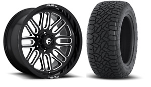 5 20x10 Fuel D662 Ignite 35 At Wheel And Tire Package Jeep Wrangler Jk Jl
