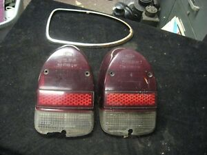 Pair Vintage Hella Volkswagen Vw Taillight Tail Light Covers Msrbbl 365 Zr