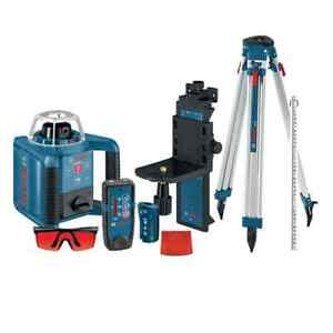 Bosch Grl300hvck Self leveling Rotary Laser With Layout Beam Complete Kit