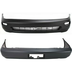 New Bumper Covers Facials Set Of 2 Front Rear To1000115 To1100174 Pair