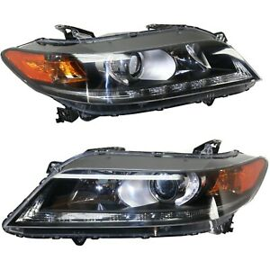 Headlight Set For 2013 2015 Honda Accord Coupe Left And Right With Bulb Capa 2pc