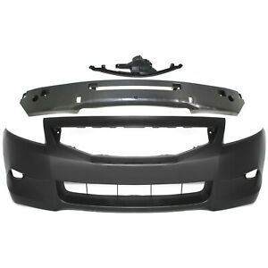 Front Bumper Cover Kit For 2008 2010 Honda Accord Coupe W Absorber Retainer