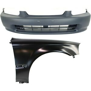 Auto Body Repair For 1996 1998 Honda Civic Front Bumper Cover Fender
