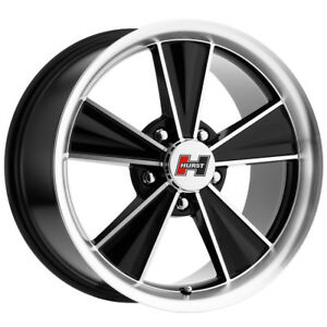 4 15 Inch Hurst Ht324 Dazzler 15x7 5x4 75 5mm Black machined Wheels Rims