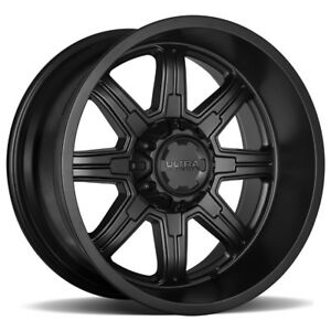 5 new 15 Inch Ultra 229sb Menace 15x8 5x4 5 5x5 19mm Satin Black Wheels Rims