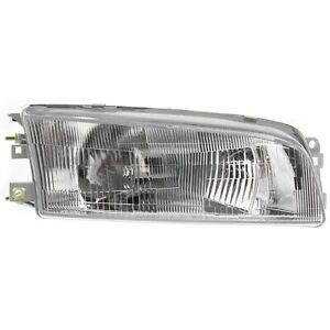 Headlight For 97 2001 Mitsubishi Mirage Right With Bulb Clear Lens Halogen