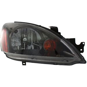 Headlight For 2004 2007 Mitsubishi Lancer Right Black Housing With Bulb