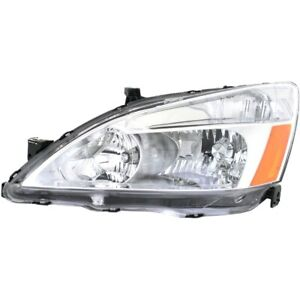 Headlight For 2003 2004 2005 2006 2007 Honda Accord Left Capa