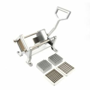 Steel aluminum Potato French Fry Cutter Slicer Commercial Quality W 3 Blades