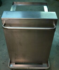 Kitchen Restaurant Stainless Steel Spring Loaded Rolling Lift Cart
