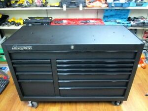 New Snap On 55 11 Drawer Double Bank Classic Roll Cab Black Tool Box Kra2411pot