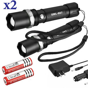 Tactical Police 90000Lumens T6 3Modes LED Flashlight Aluminum Torch Zoomable USA $12.95